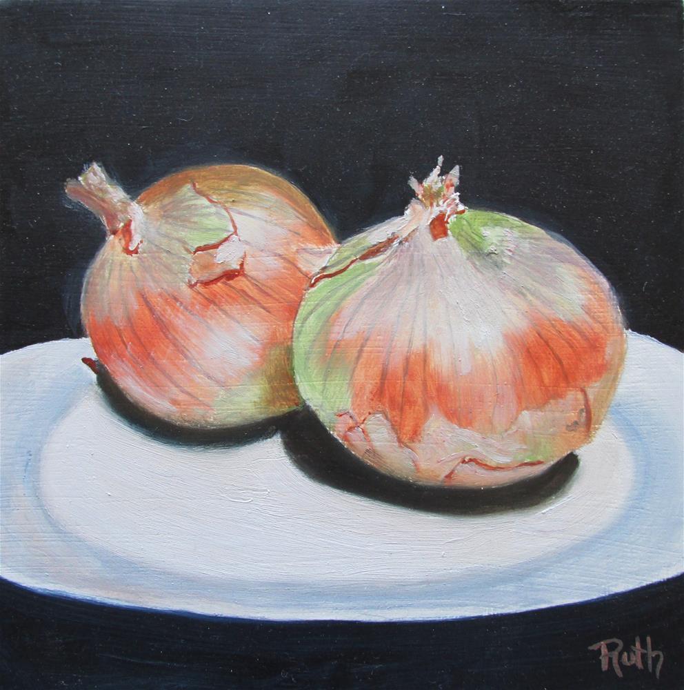 """Two Onions"" original fine art by Ruth Stewart"