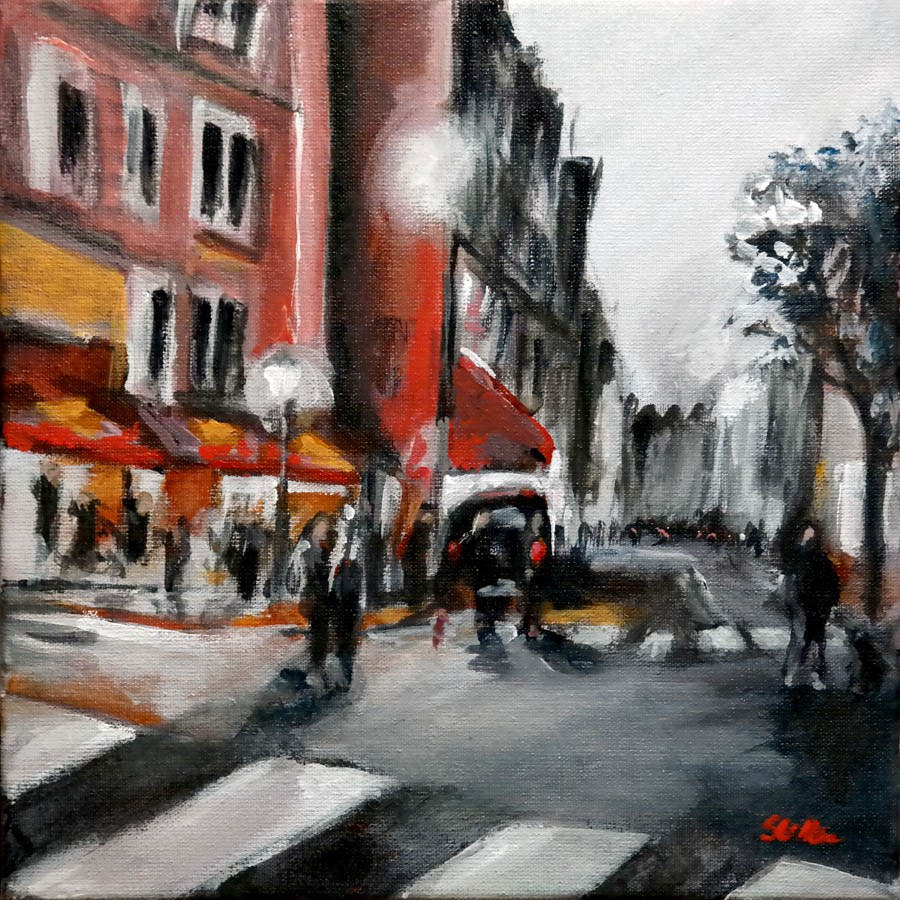 """1551 Speechless in Paris"" original fine art by Dietmar Stiller"