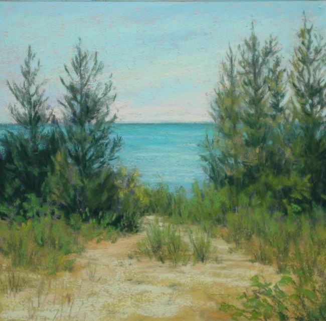"""Path to the Shore"" original fine art by Susan Klabak"