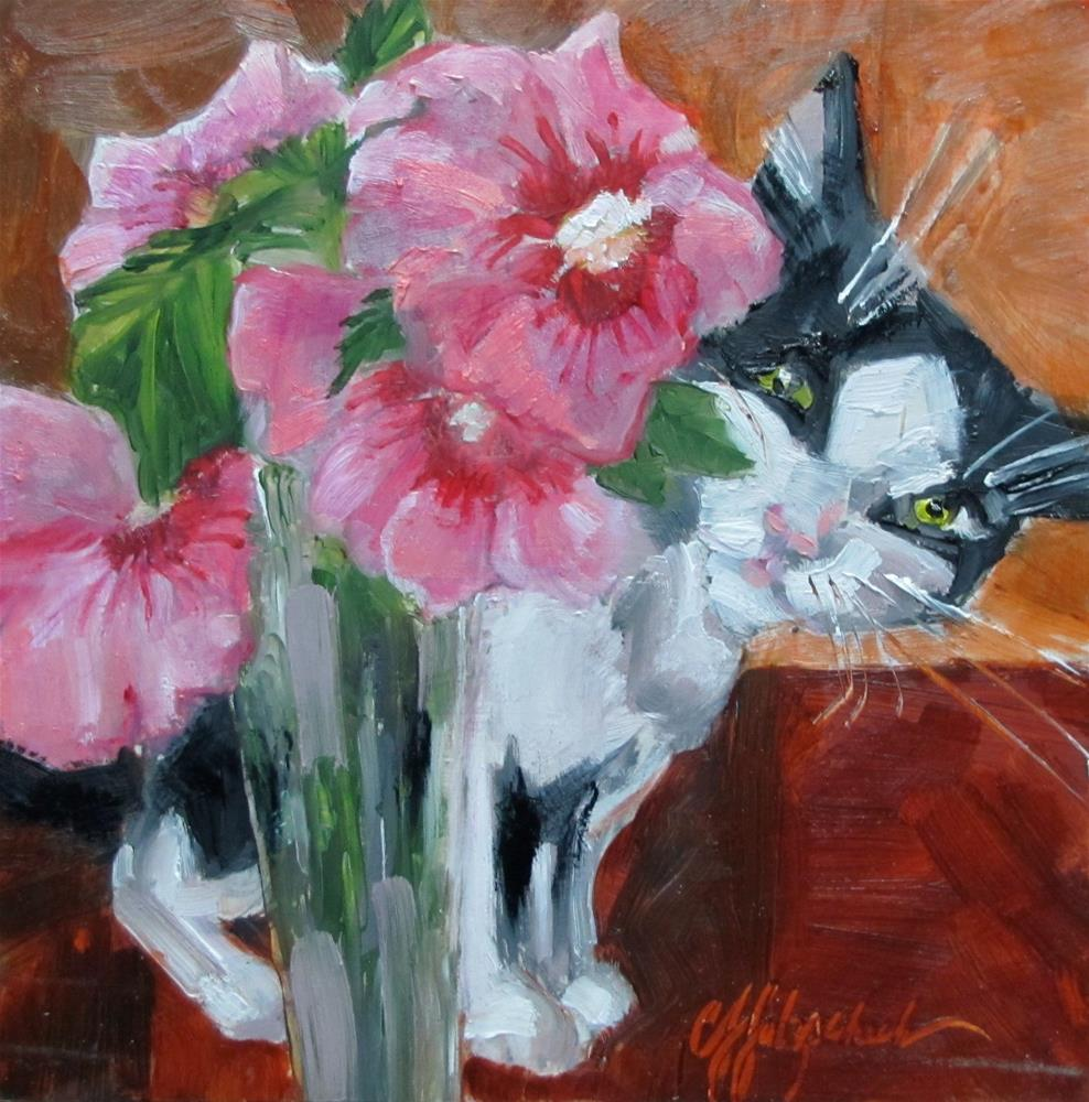 """Hello Kitty"" original fine art by Christine Holzschuh"