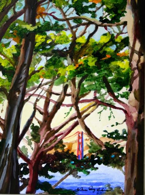 """Framed"" original fine art by JoAnne Perez Robinson"