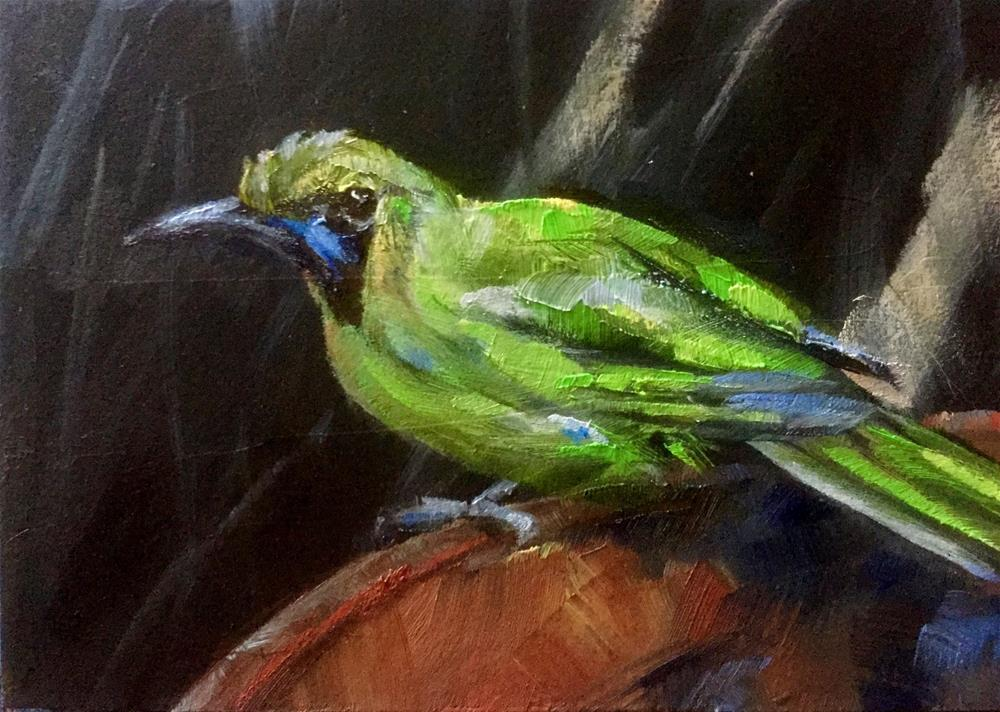 """Golden-fronted Leafbird"" original fine art by Gary Bruton"
