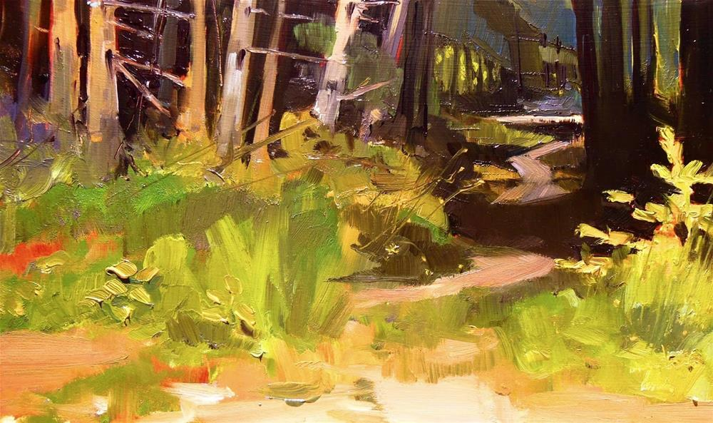"""Path to the River Dosewallips State Park, plein air , oil painting by Robin Weiss"" original fine art by Robin Weiss"