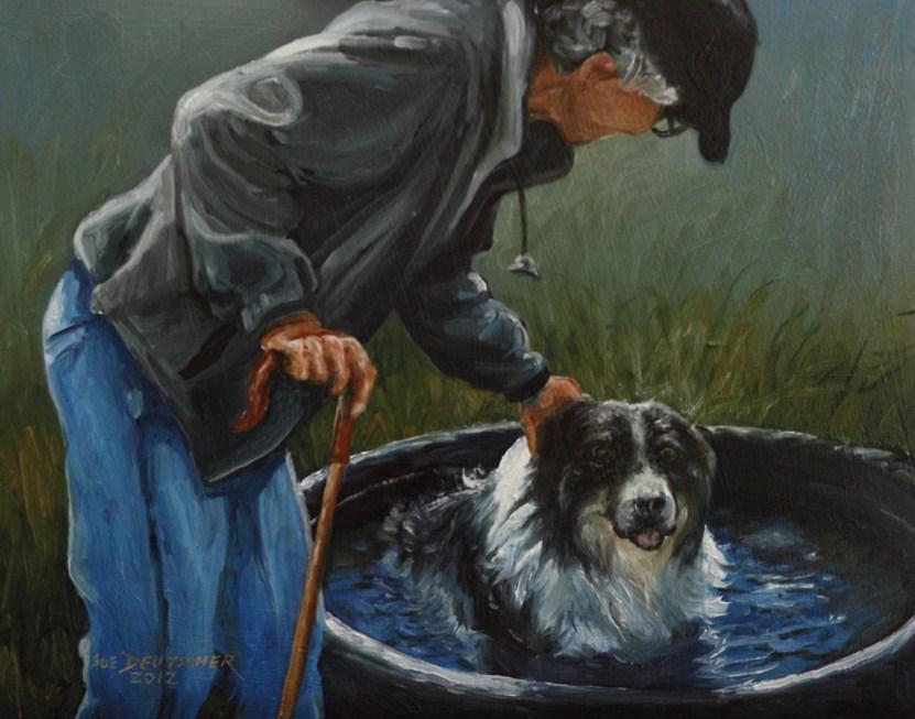 """""""Good Dog"""" original fine art by Sue Deutscher"""