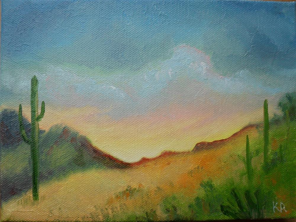 """Sonoran Sunset"" original fine art by Karen Roncari"