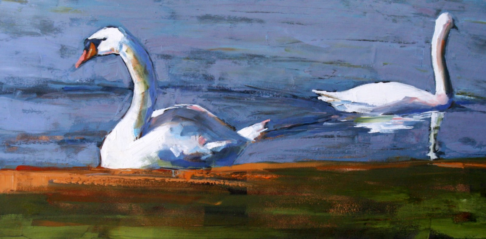 """parting ways"" original fine art by Carol Carmichael"