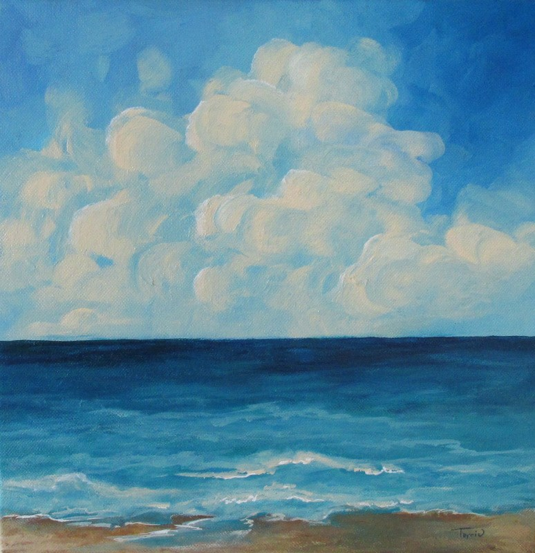 """Sea of Clouds"" original fine art by Torrie Smiley"