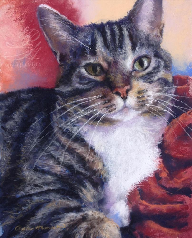 """Catitude"" original fine art by Pamela Hamilton"