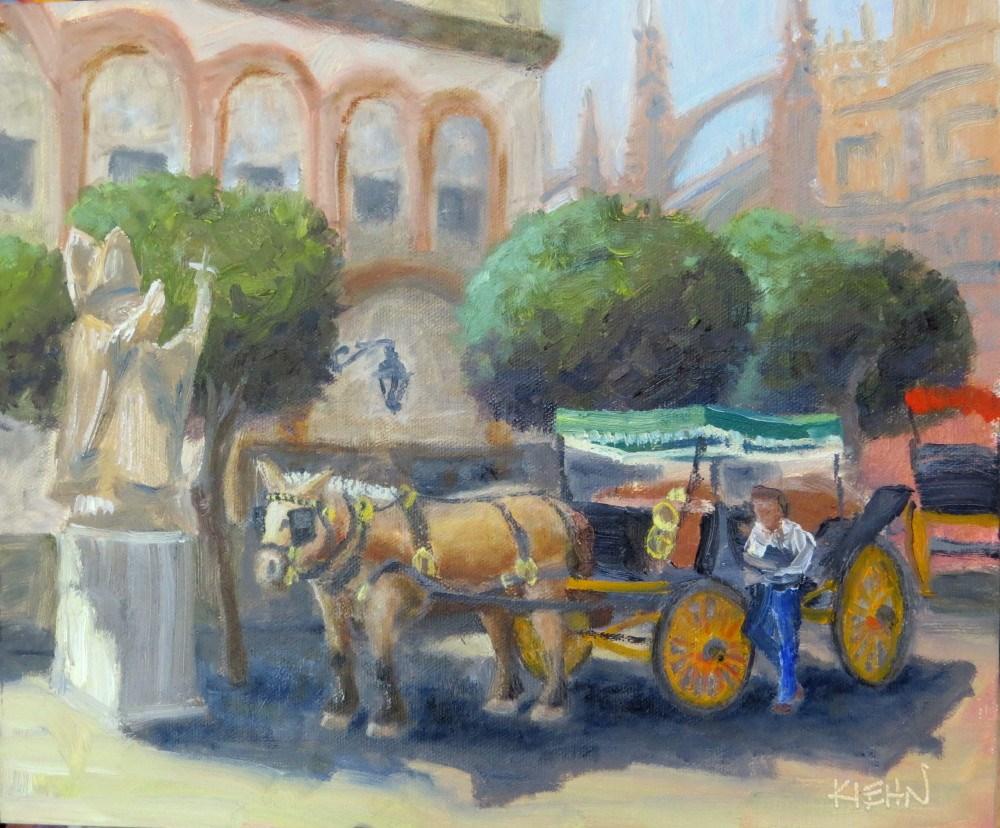 """Horse and Buggy"" original fine art by Richard Kiehn"