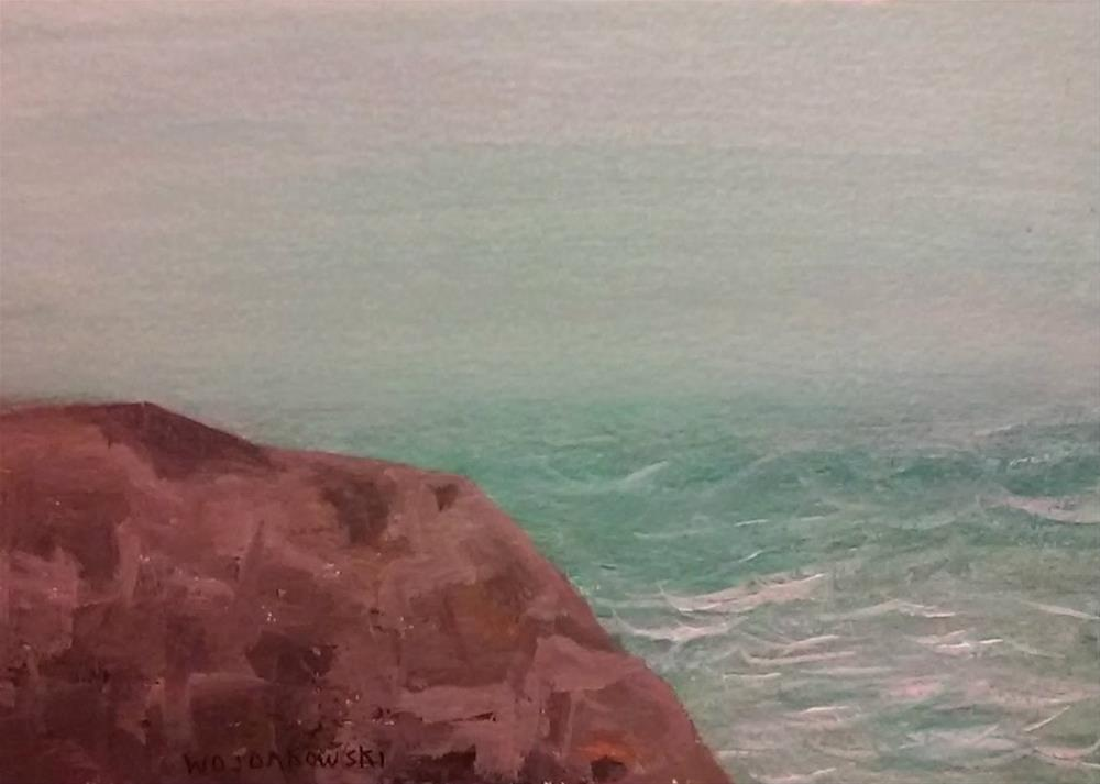 """Coastal Maine #4"" original fine art by Joe Wojdakowski"