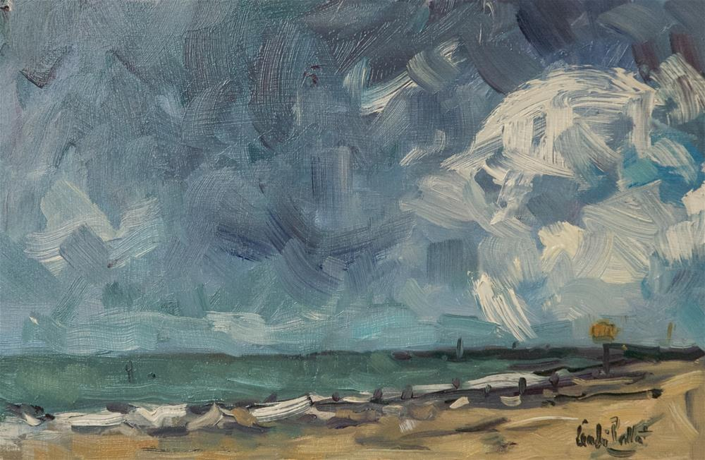 """Dark Sky on the Beach"" original fine art by Andre Pallat"