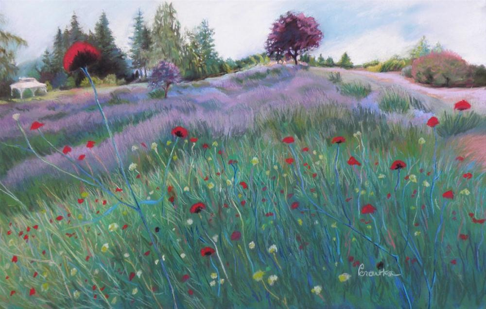 """Waving Hello to the Lavender"" original fine art by Sarah Peroutka"