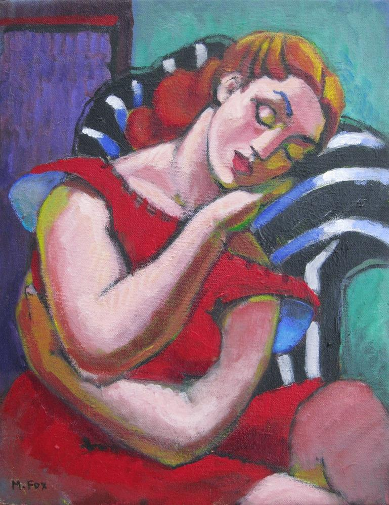 """Sleeping Woman"" original fine art by Marie Fox"