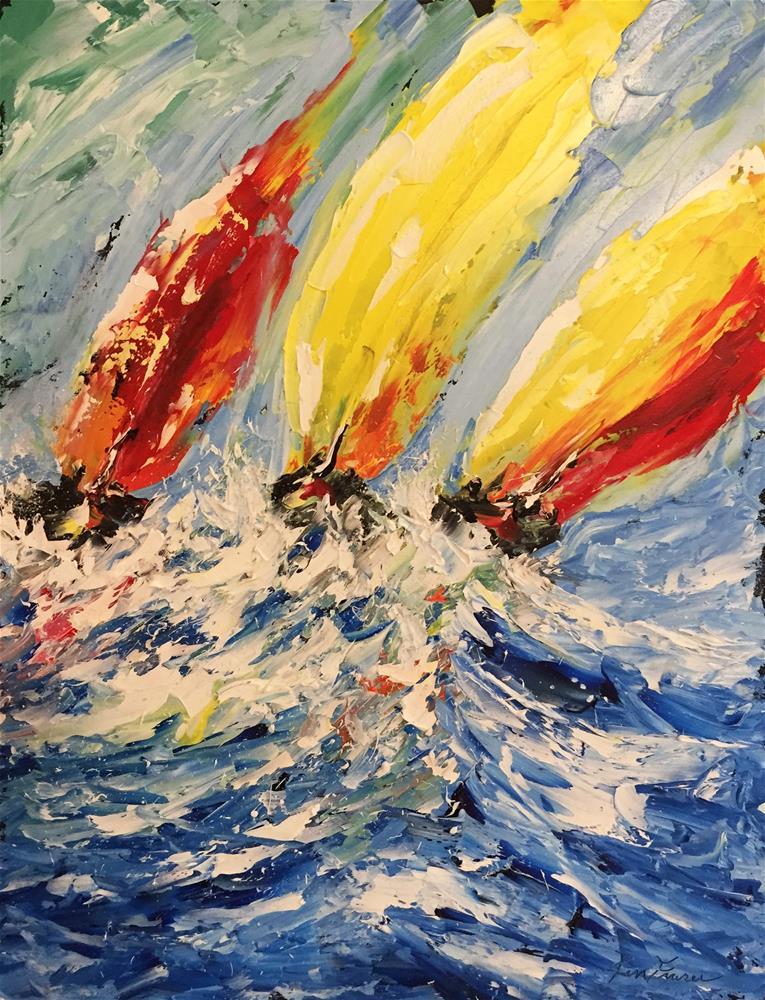 """""""Sail Racing"""" original fine art by Ken Fraser"""