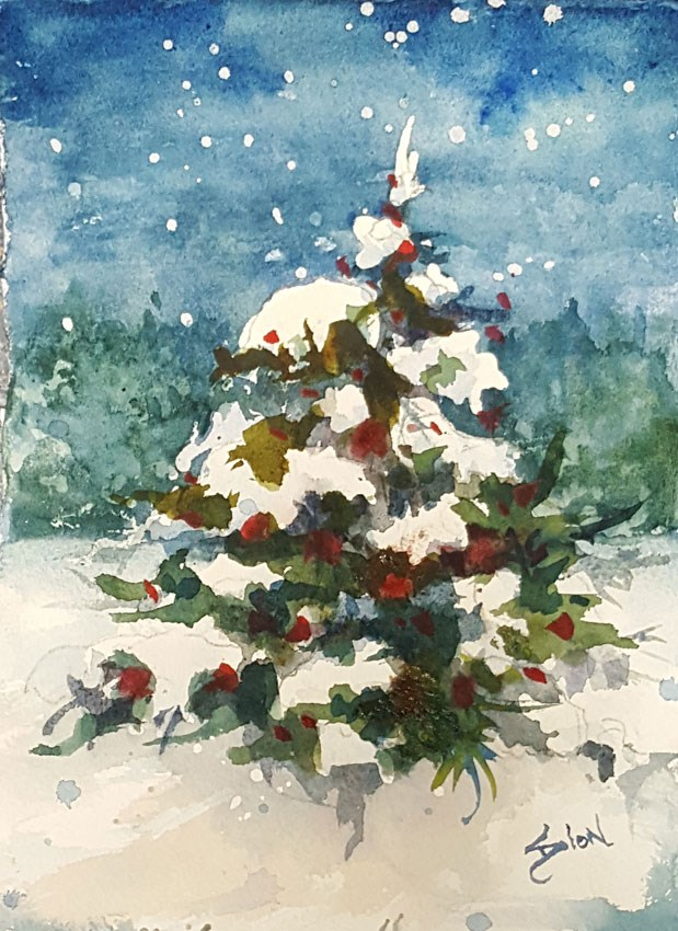 """""""All Decked Out"""" original fine art by Sue Dion"""