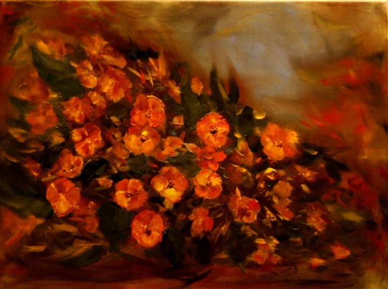 """Begonia Garden"" original fine art by Mary Datum"