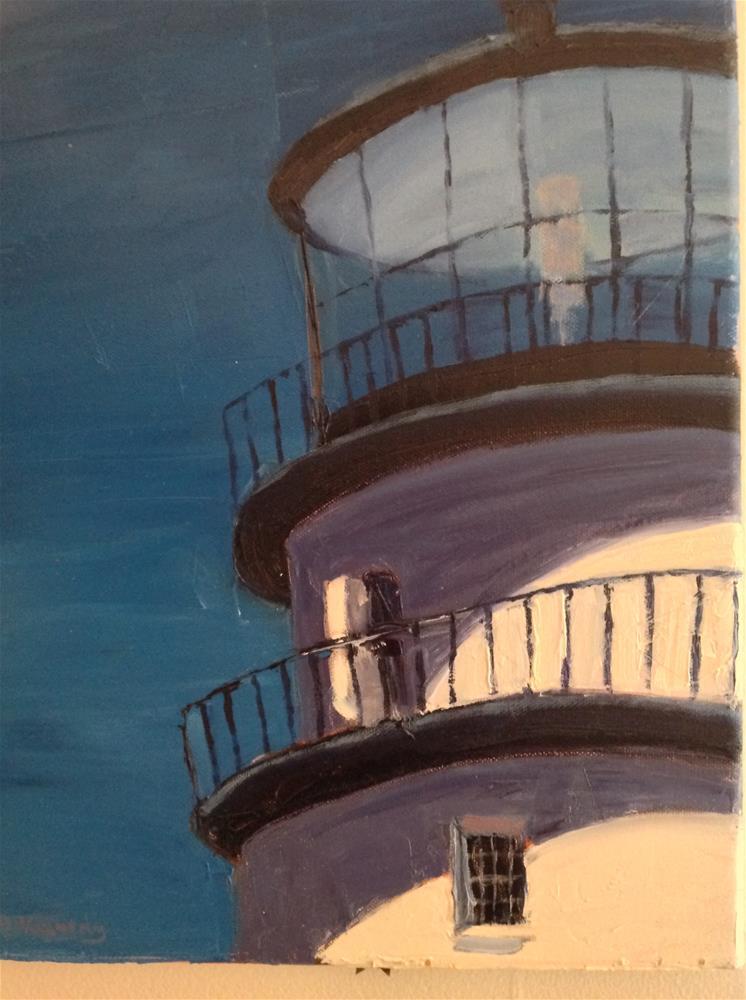 """Lighthouse"" original fine art by Debra Kennedy"