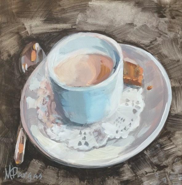 """""""Pot de Creme"""" original fine art by Mary Pargas"""