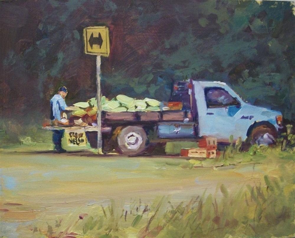 """FRESH MELONS"" original fine art by Doug Carter"