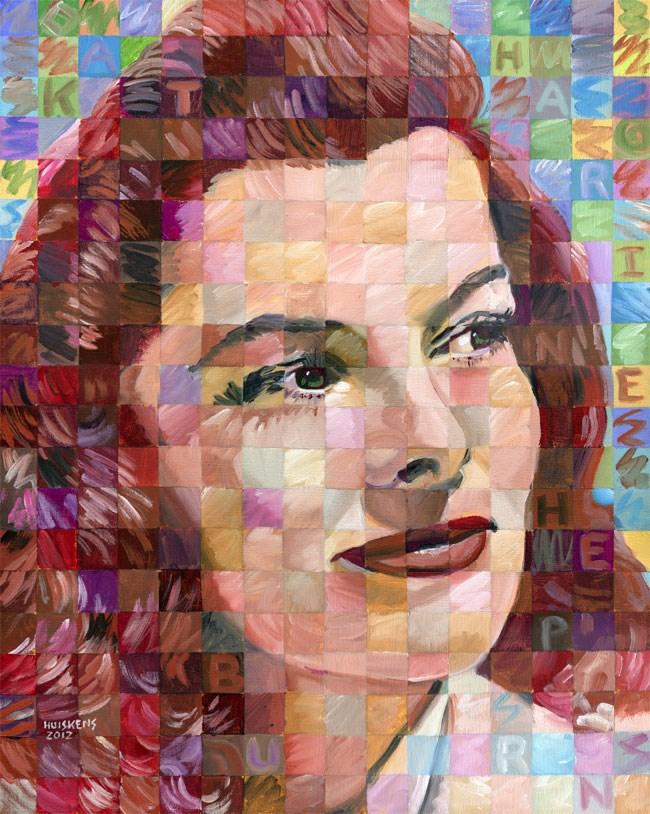 """""""Katharine Hepburn"""" original fine art by Randal Huiskens"""