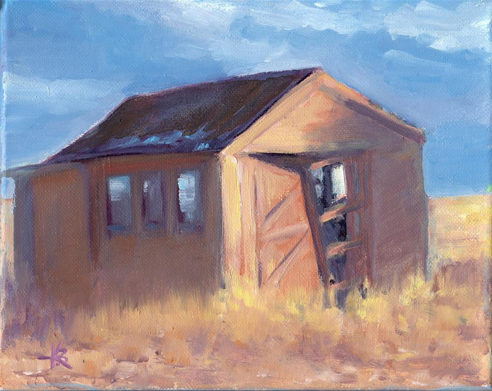 """Abandoned"" original fine art by Kathy Bodamer"