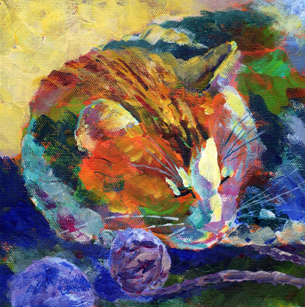 """All Tuckered Out"" original fine art by Melissa Gannon"