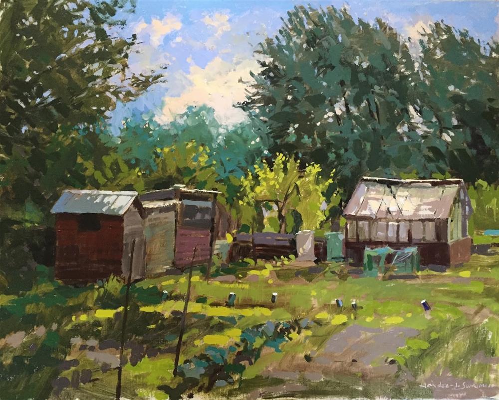 """Summer greens"" original fine art by Haidee-Jo Summers ROI"