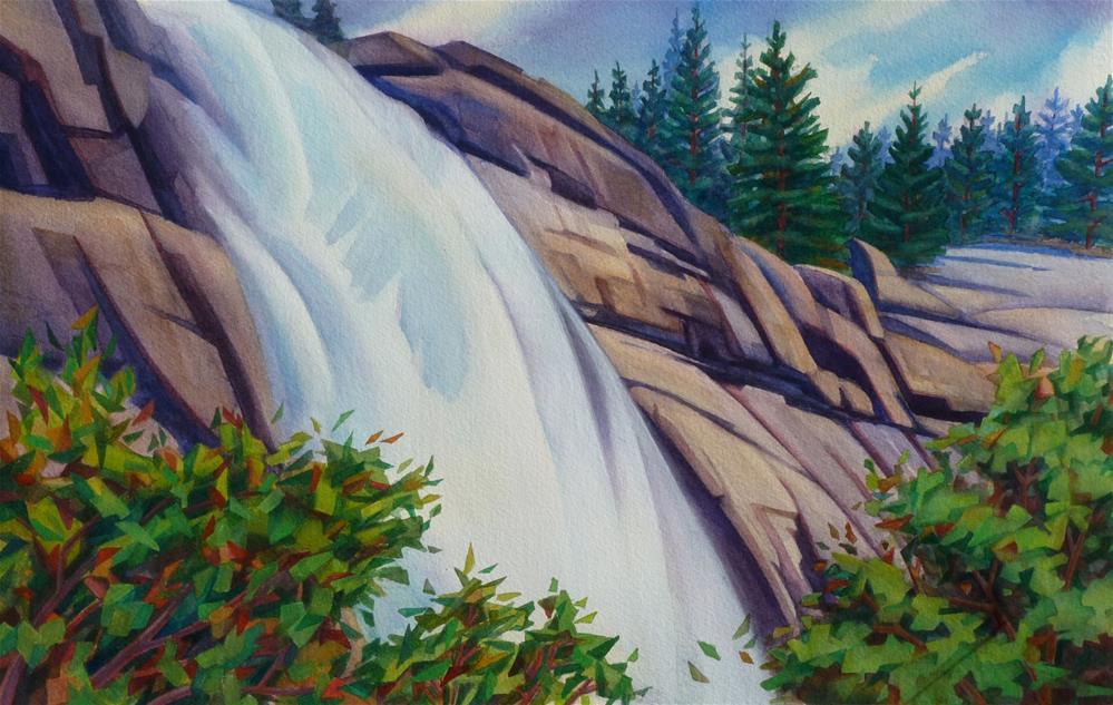 """Nevada Falls"" original fine art by Mark Allison"