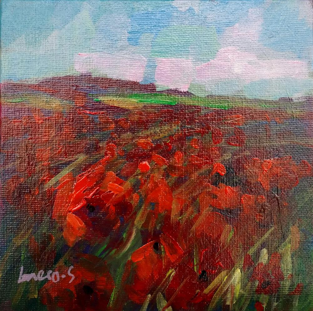 """Field of poppies"" original fine art by salvatore greco"