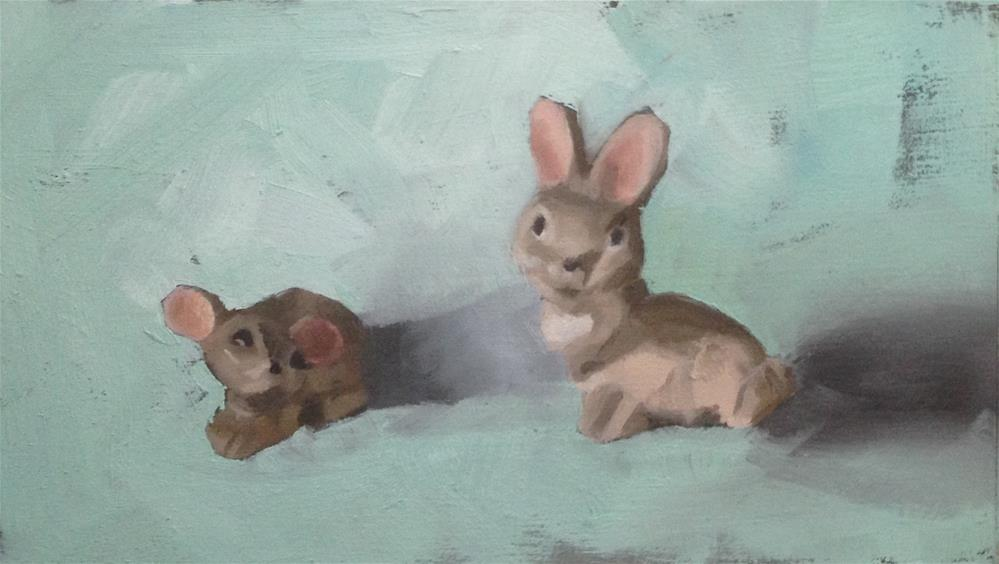 """The Adoration of the Mousie"" original fine art by Philla Barkhorn"