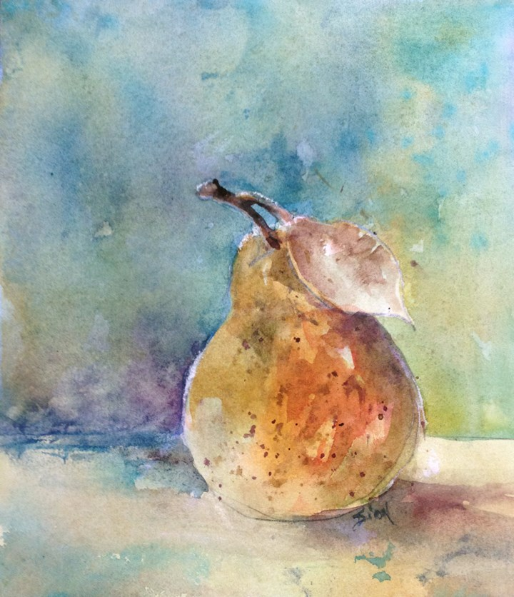 """Pear Study 2"" original fine art by Sue Dion"