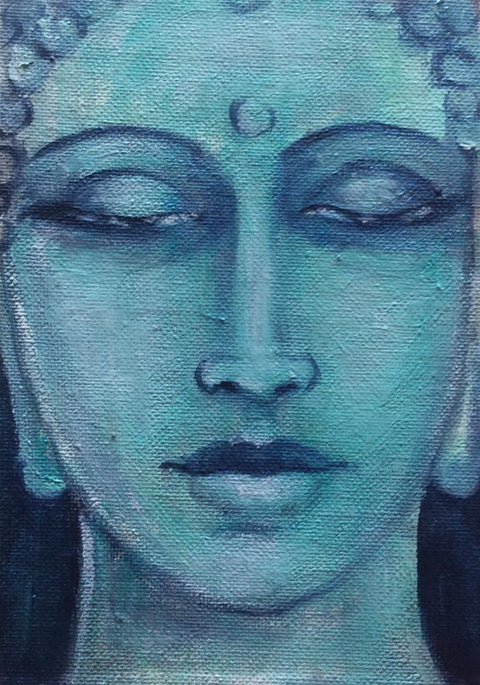 """Buddha no 7"" original fine art by Sonia von Walter"