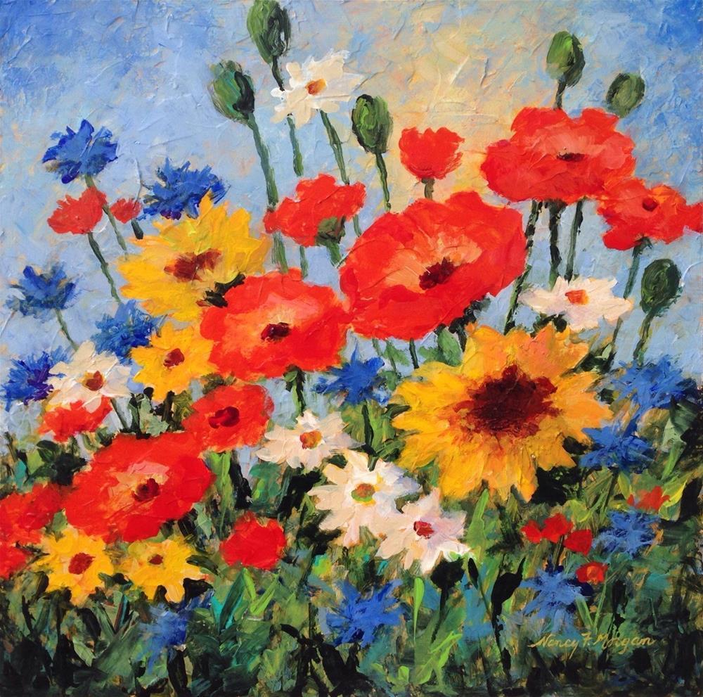 """My Summer Garden"" original fine art by Nancy F. Morgan"