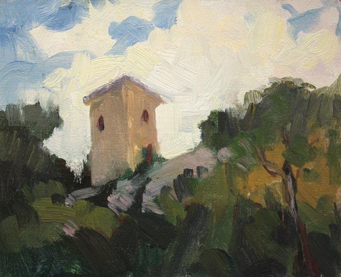 Tower Umbria original fine art by Kathryn Townsend