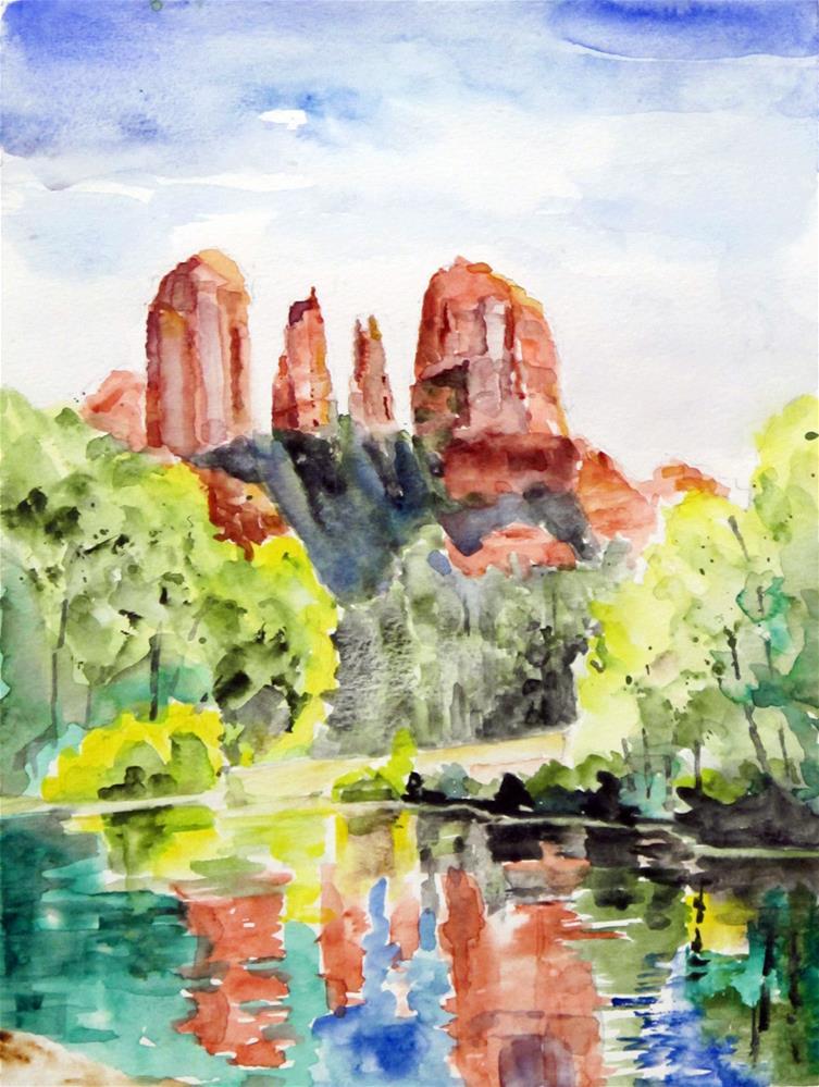 """Red Rock Crossing, Sedona"" original fine art by  David Beale"