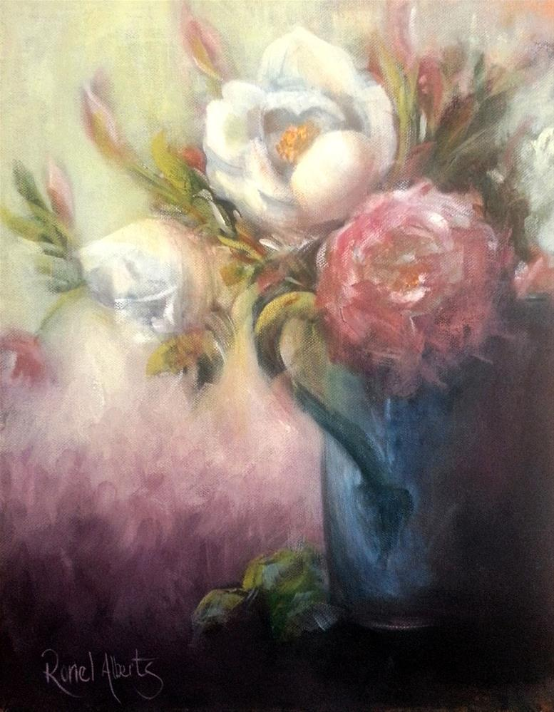 """antique roses"" original fine art by Ronel Alberts"