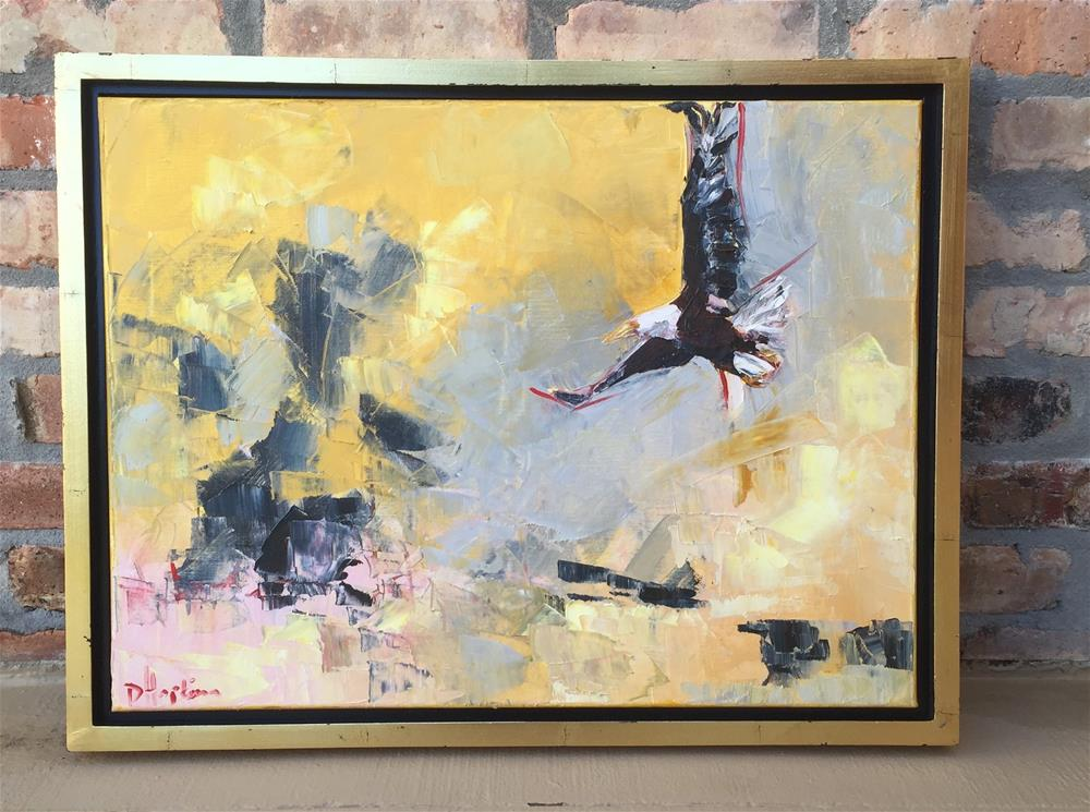 """On Eagle's Wings, Framed"" original fine art by Denise Hopkins"
