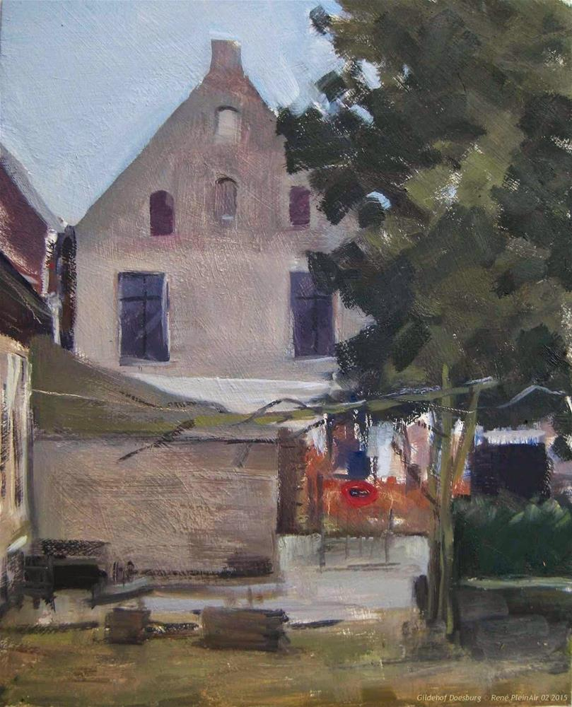 """Gildehof Doesburg, The Netherlands"" original fine art by René PleinAir"