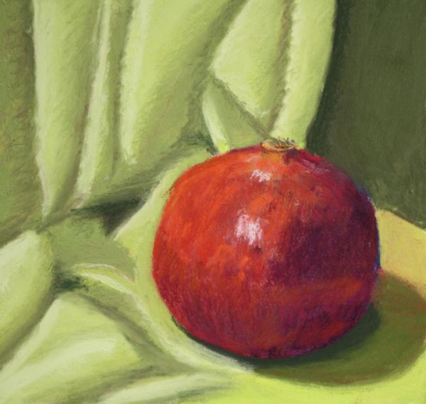 """Pomegranate"" original fine art by Jane Frederick"