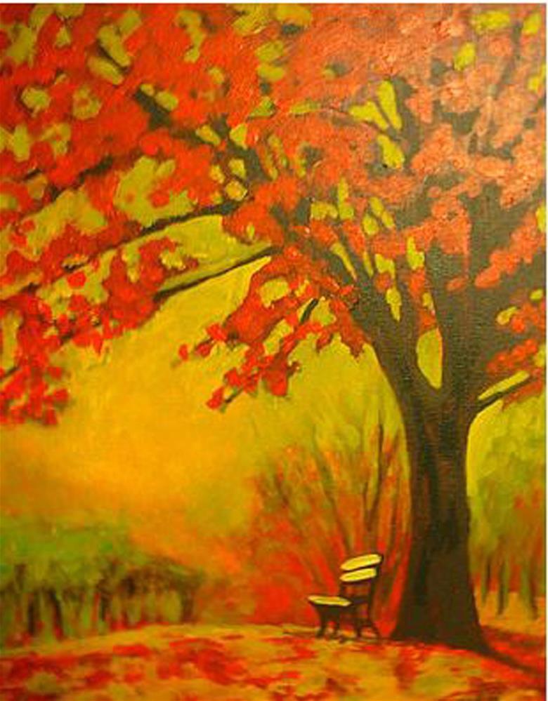 """Waiting Bench"" original fine art by Amanda Stacey"
