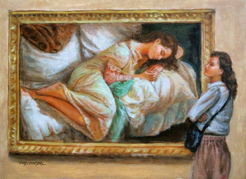 """museum visitor 17"" original fine art by vishalandra dakur"