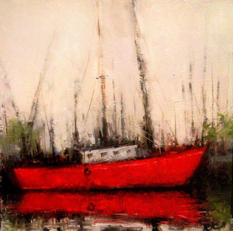 """Masts and Cranes"" original fine art by Bob Kimball"