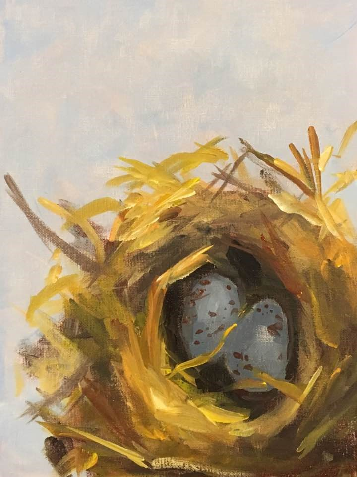 """Nest"" original fine art by Susan Elizabeth Jones"