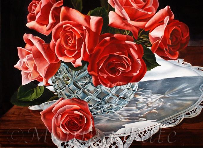 """Roses"" original fine art by Monika Pate"