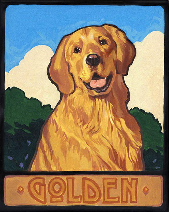 """Golden"" original fine art by Shawn Shea"