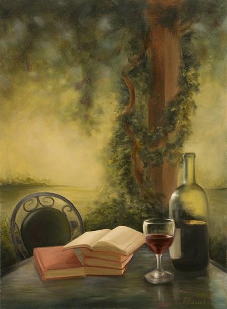 """Pergola Retreat #918"" original fine art by Dee Lessard"