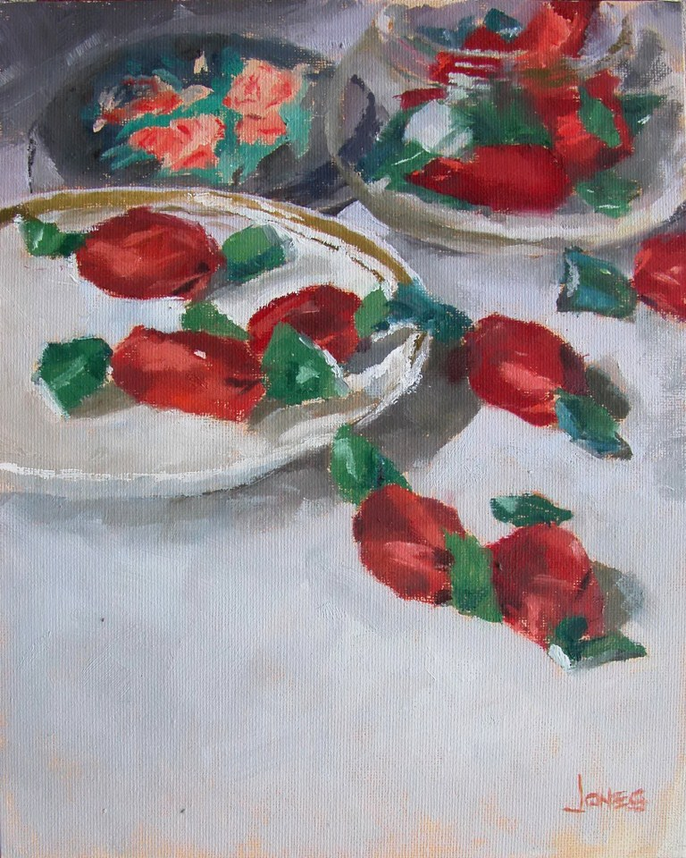 """Strawberry Hard Candy"" original fine art by Richard Jones"