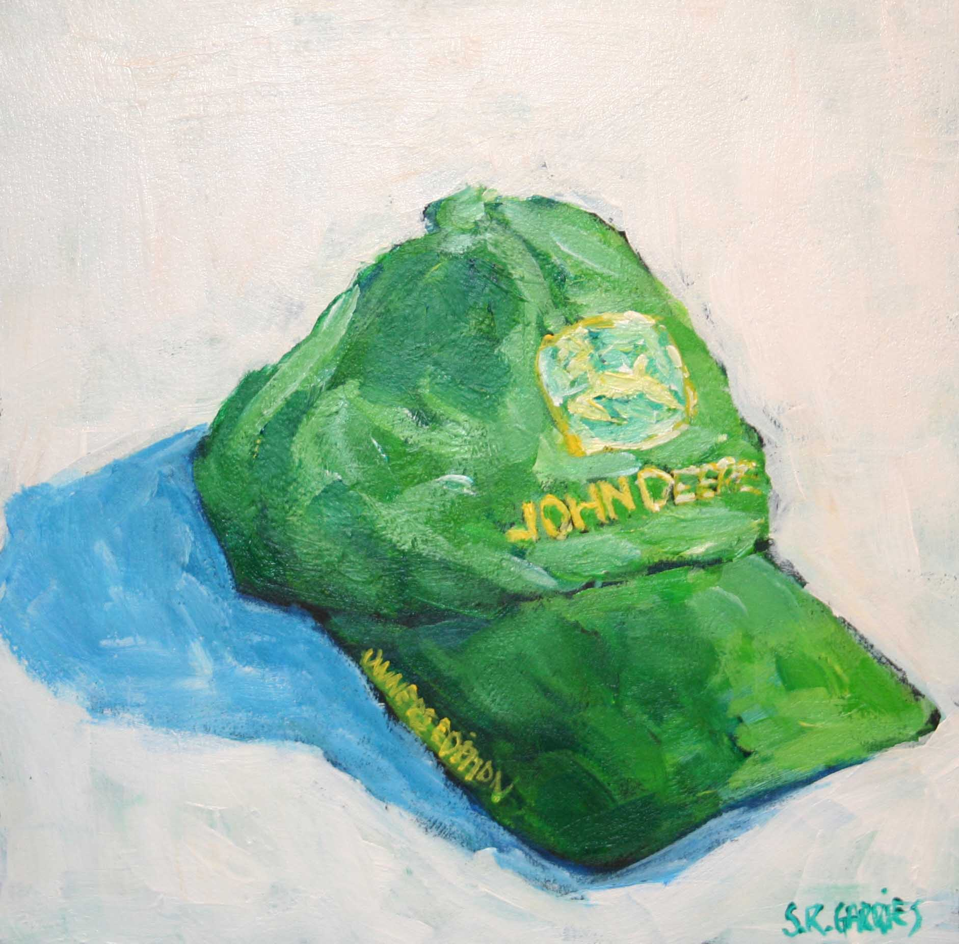 """John Deere hat"" original fine art by Shelley Garries"