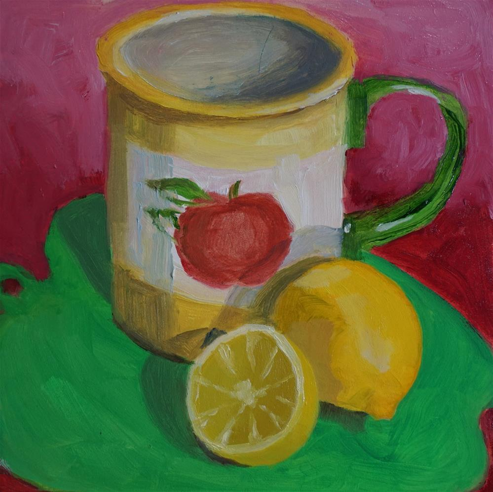 """Apples & Lemons"" original fine art by Catherine Van Berg"