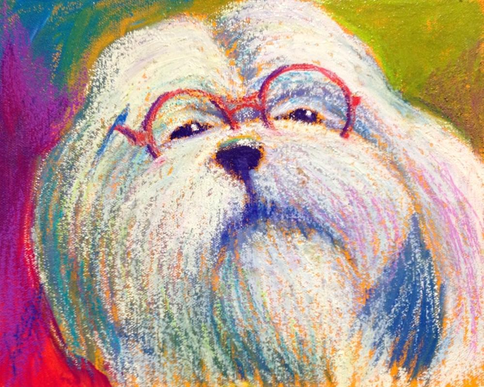 """""""I'm Not Only Cute...I'm Smart!"""" original fine art by Jeff Leedy"""